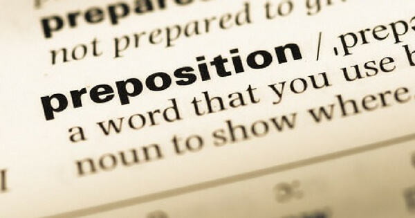 how to know which preposition to use in english
