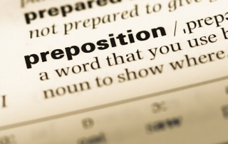 using the right prepositions